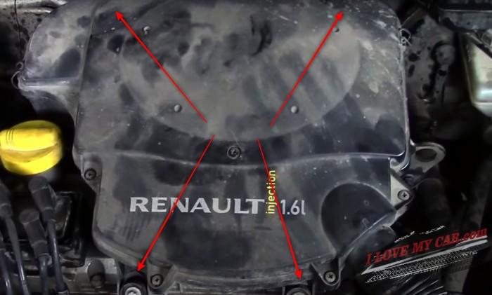 зазоры клапанов K7J, K7M Renault