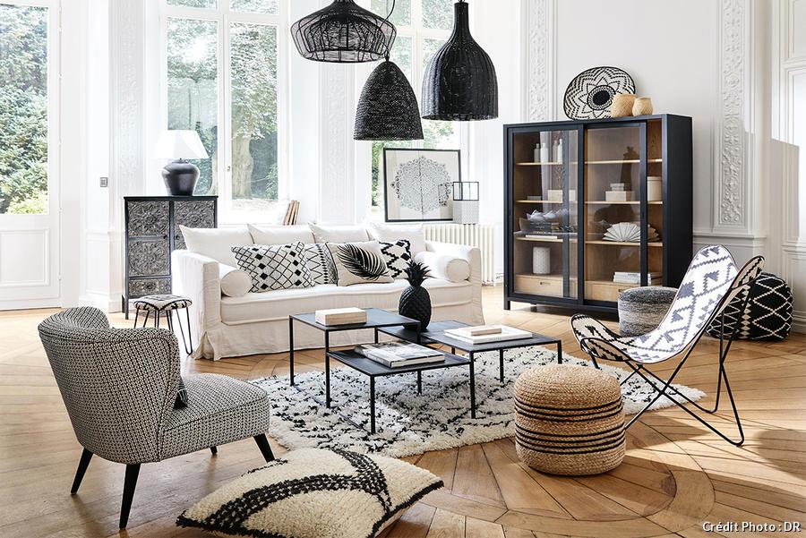 un tapis berbere dans son salon pour