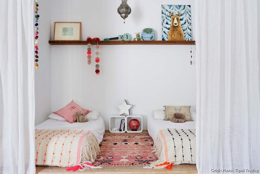 une chambre en deux sans cloison