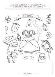 coloriages de princesse a imprimer