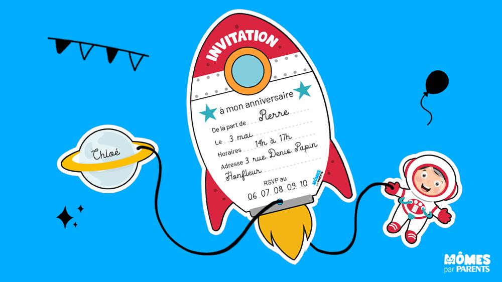 carte d anniversaire astronaute momes net