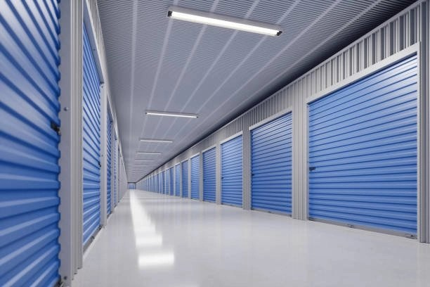 Blue warehouses for storage in Beirut