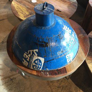 scrapmetal lamp blauw groot