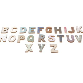 letters hout alfabet scrapwood