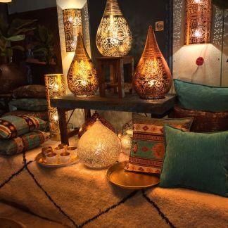 Indiase filigrain hanglampen