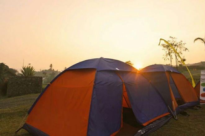 Selamat pagi dari tenda Camp Hulu Cai ^.^ (foto oleh @harrismaul)