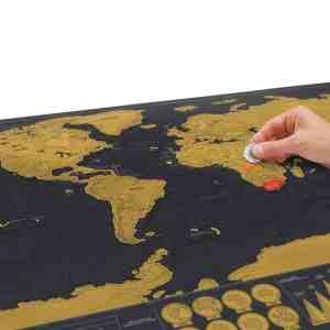 Scratch Map Travel World Luckies of London De Luxe