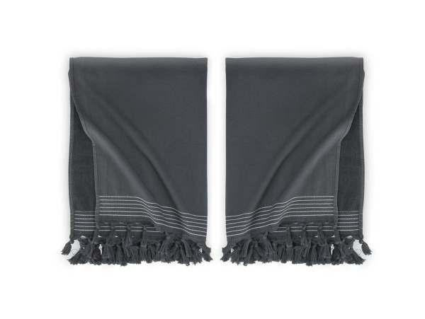 Hamam Hammam Bath Towel Soft Cotton Walra Anthracite