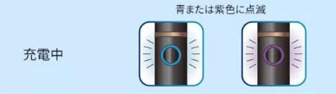 プルームテックプラスの充電中の残量ランプ