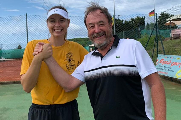 Sau kỳ tập huấn mùa hè, HLV Piatti cho rằng Sharapova hoàn toàn có thể trở lại cạnh tranh các danh hiệu lớn như Mỹ Mở rộng. Ảnh: Tennis World.