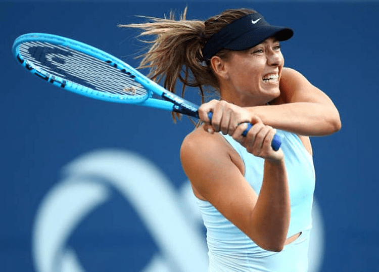 Sharapova có sự trở lại không thành công sau khi nhận vé đặc cách dự Rogers Cup. Ảnh: Tennis World.