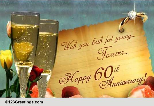 Feel Young On Your 60th Anniversary Free Milestones ECards 123 Greetings