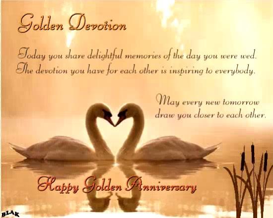 Golden Devotion Free Milestones ECards Greeting Cards 123 Greetings