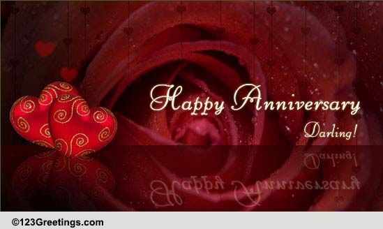 Happy Anniversary Darling Free For Her ECards Greeting