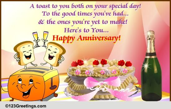 Anniversary To A Couple Cards Free Anniversary To A