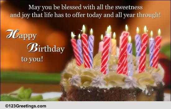 Send Blessings On Birthday Free Birthday Blessings ECards 123 Greetings