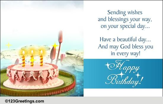 A Beautiful Bday Blessing Free Birthday Blessings ECards 123 Greetings