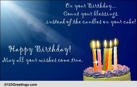 Count Your Birthday Blessings Free Birthday Blessings ECards 123 Greetings