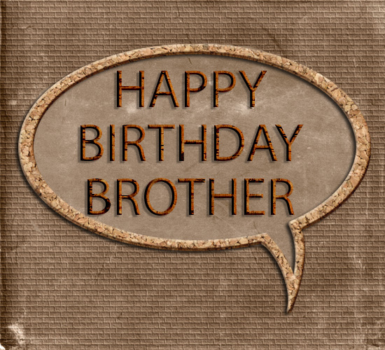 Happy Birthday Brother Masculine Brown Free For Brother Amp Sister ECards 123 Greetings