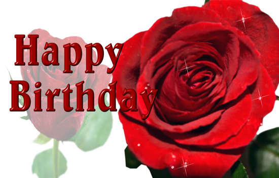 Birthday Greeting With Rose Free Birthday For Her ECards 123 Greetings