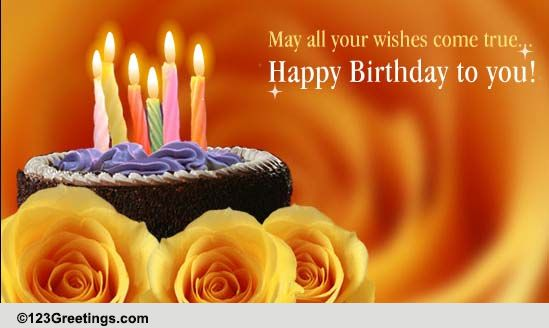 Happy Birthday My Dear Friend Free For Best Friends ECards 123 Greetings