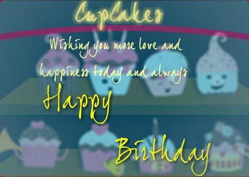 Singing Birthday Cupcakes Free Funny Birthday Wishes ECards 123 Greetings