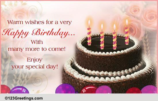 A Warm Birthday Wish Free Happy Birthday ECards Greeting Cards 123 Greetings