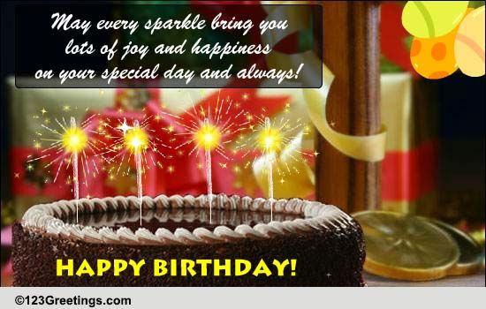 A Sparkling Birthday Greeting Free Happy Birthday ECards 123 Greetings