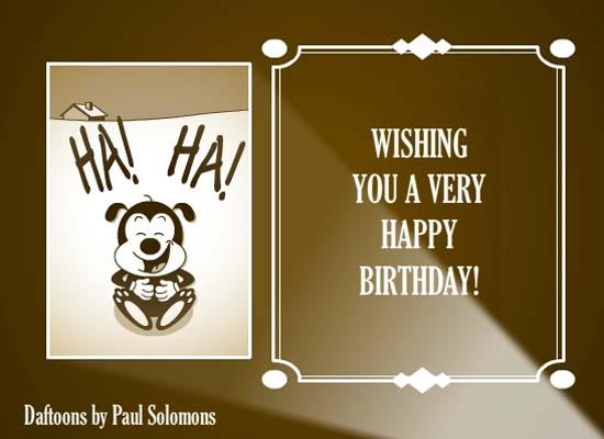 Classic Cartoon Birthday Message Free Happy Birthday