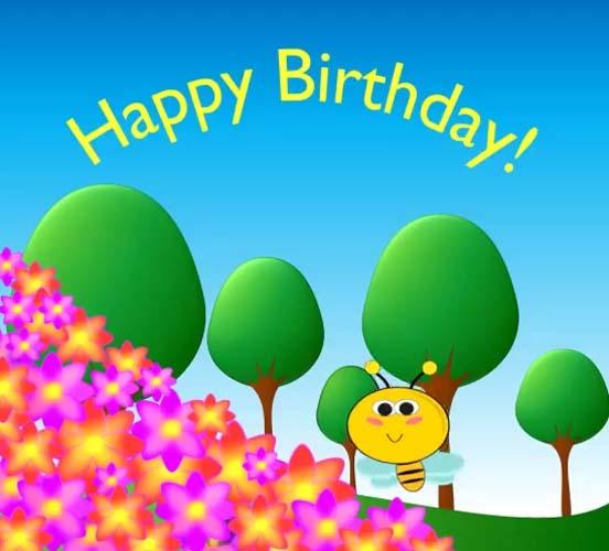 Happy Birthday Bee Buzz Free Happy Birthday ECards Greeting Cards 123 Greetings