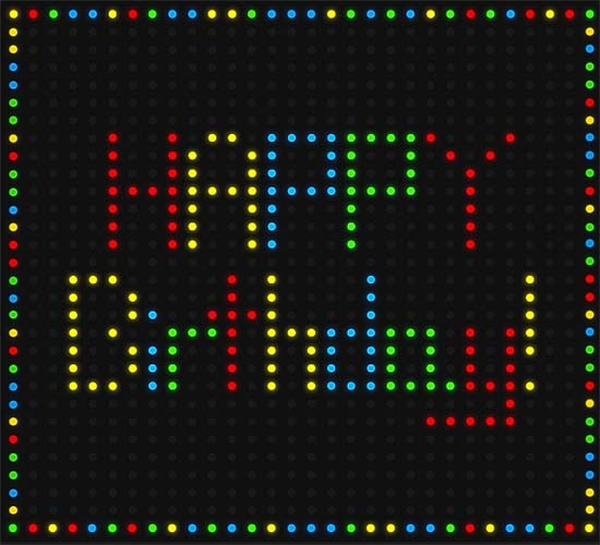 Lite Brite Birthday Free Happy Birthday ECards Greeting Cards 123 Greetings
