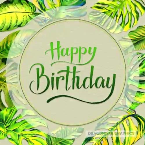 Tropical Happy Birthday Free Happy Birthday ECards Greeting Cards 123 Greetings