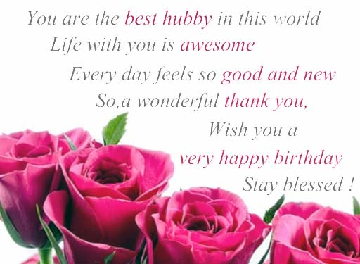Happy Birthday My Hubby Free For Husband Amp Wife ECards 123 Greetings