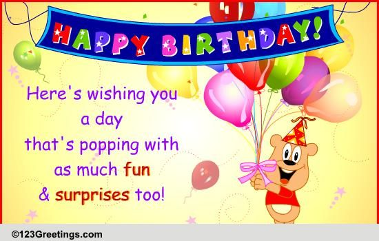 Popping A Surprise Free For Kids ECards Greeting Cards 123 Greetings