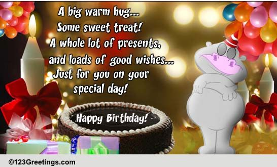 A Big Warm Hug On Your Birthday Free For Kids ECards Greeting Cards 123 Greetings
