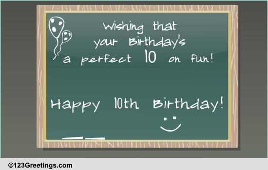 Happy 10th Birthday Free Milestones ECards Greeting Cards 123 Greetings