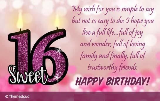 Happy Sweet 16th Birthday To You Free Milestones ECards 123 Greetings