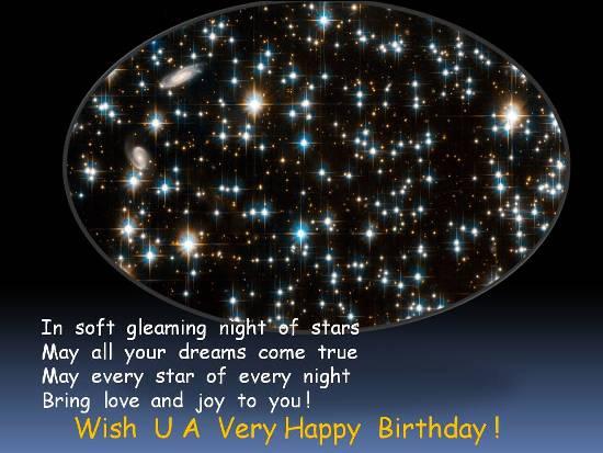 Sparkling Birthday Greetings Free Birthday Wishes ECards 123 Greetings