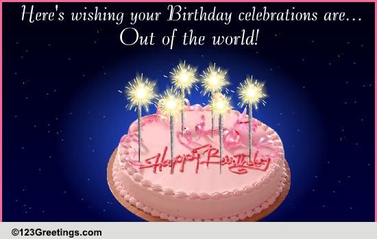 A Sparkling Birthday Wish Free Birthday Wishes ECards Greeting Cards 123 Greetings