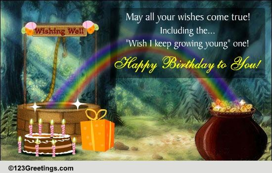 Birthday Wishing Well Free Birthday Wishes ECards Greeting Cards 123 Greetings