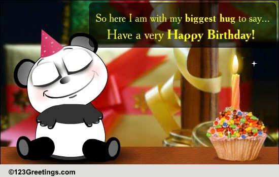 Big Warm Birthday Hugs Free Birthday Wishes ECards Greeting Cards 123 Greetings