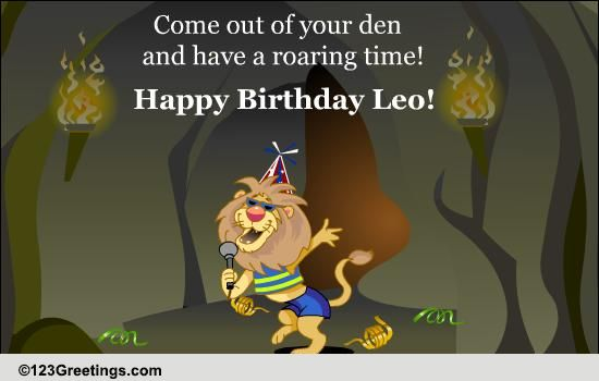Happy Birthday Leo Free Zodiac ECards Greeting Cards 123 Greetings