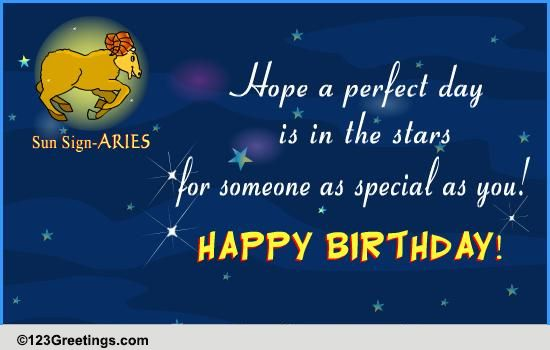 Happy Birthday Aries Free Zodiac ECards Greeting Cards 123 Greetings