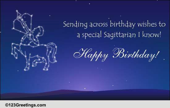 Zodiac Sagittarius 22 Nov 21st Dec Free Zodiac ECards Greeting Cards 123 Greetings