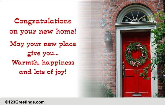 Congratulations New Home Cards Free Congratulations New Home Wishes 123 Greetings