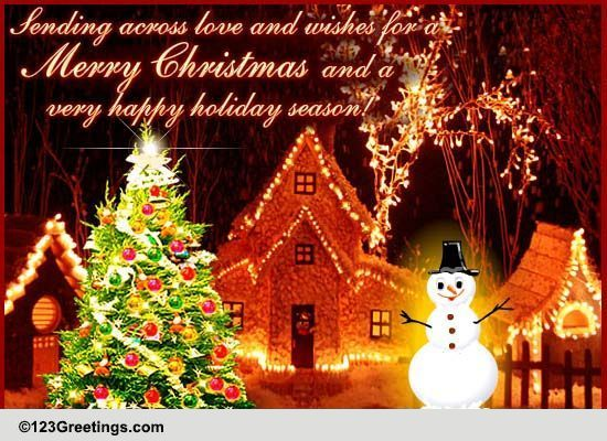 From Our Home To Yours On Xmas Free Family ECards Greeting Cards 123 Greetings