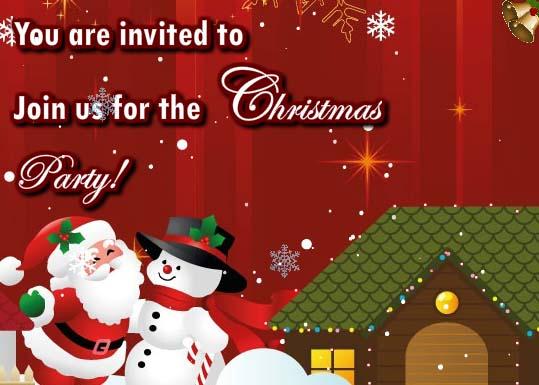 Invitation For Christmas Celebration Free Invitations ECards 123 Greetings