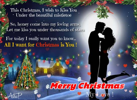 Christmas Hugs Amp Mistletoe Kisses Free Love ECards Greeting Cards 123 Greetings