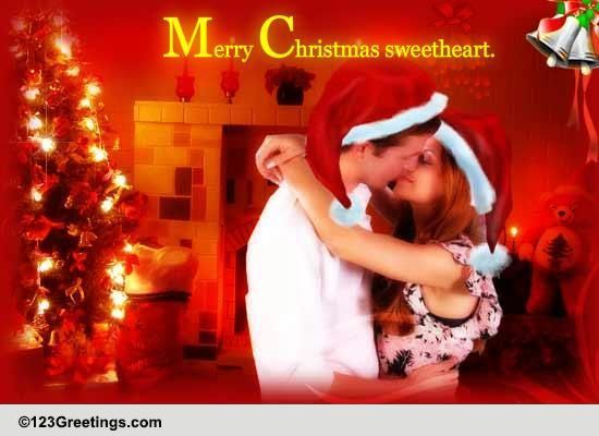 A Romantic Christmas Wish Free Merry Christmas Wishes ECards 123 Greetings