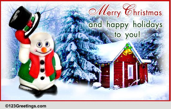 A Cool Christmas Wish Free Merry Christmas Wishes ECards 123 Greetings